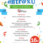 CARTEL-MENU ANTROXU LAGITANA